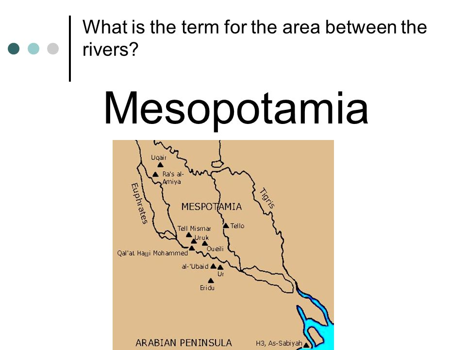 What is the term for the area between the rivers