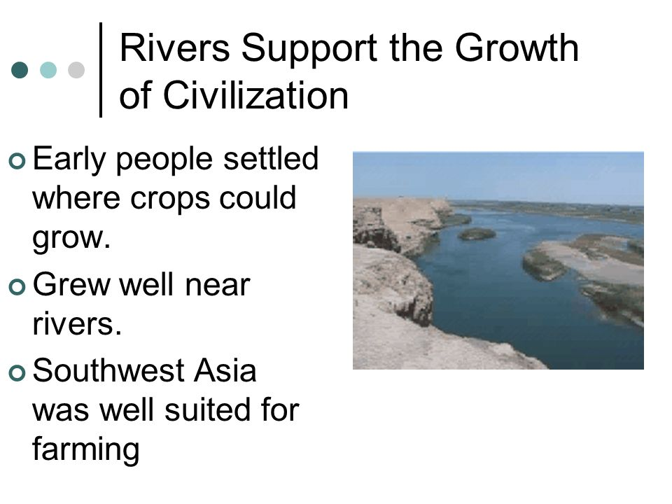 Rivers Support the Growth of Civilization