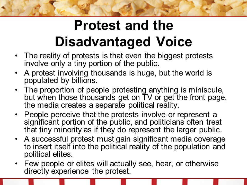 Protest and the Disadvantaged Voice
