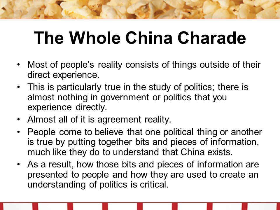 The Whole China Charade