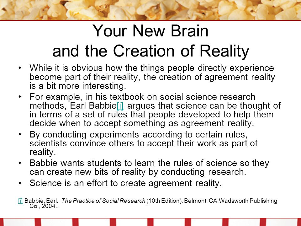 Your New Brain and the Creation of Reality