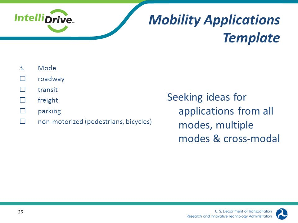 Mobility Applications Template