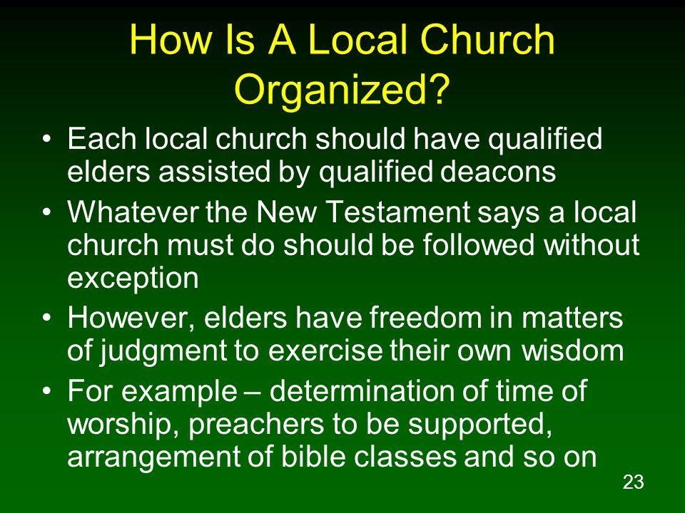 How Is A Local Church Organized