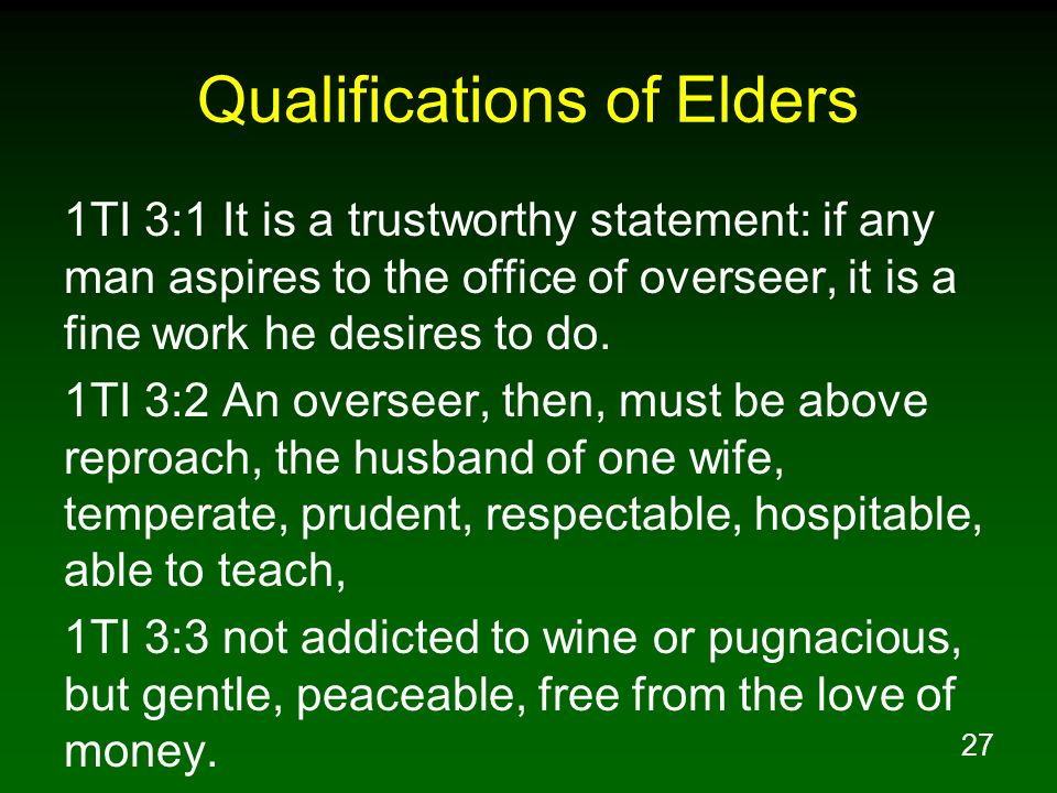 Qualifications of Elders