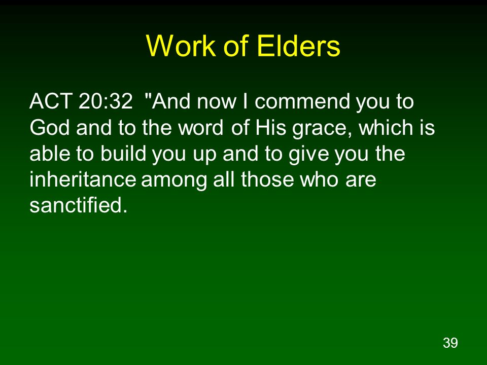 Work of Elders