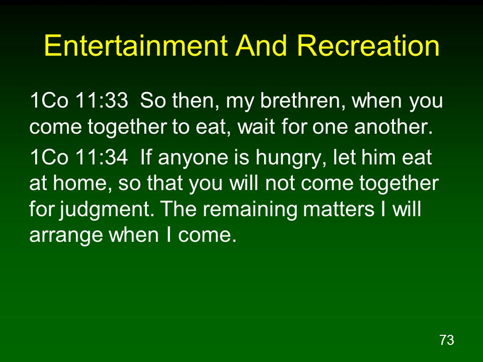 Entertainment And Recreation