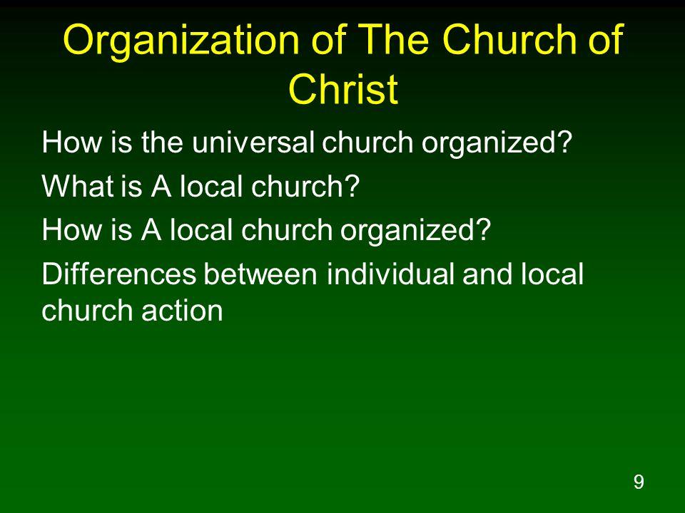 Organization of The Church of Christ