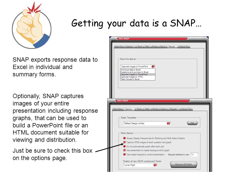 Getting your data is a SNAP…