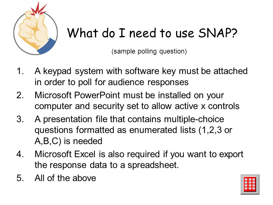 What do I need to use SNAP