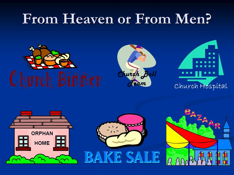 From Heaven or From Men Church Hospital Church Ball Team HOME ORPHAN