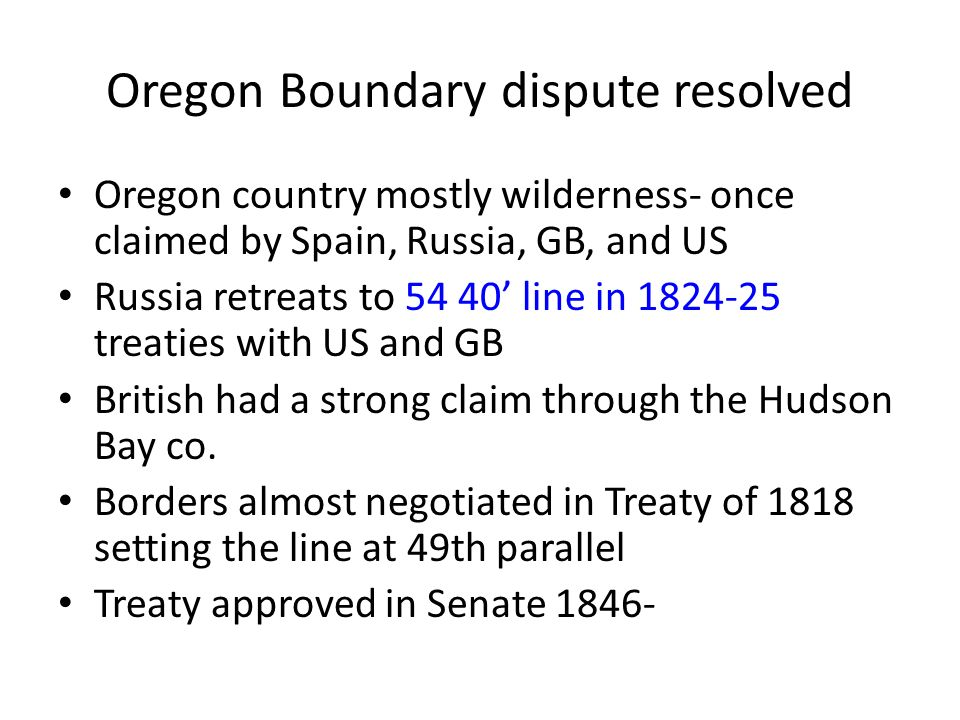 Oregon Boundary dispute resolved