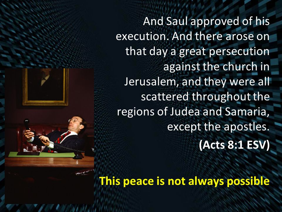 And Saul approved of his execution