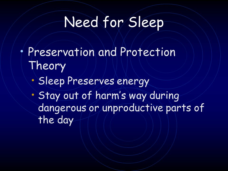 Need for Sleep Preservation and Protection Theory