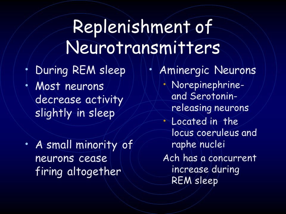 Replenishment of Neurotransmitters