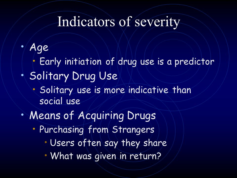 Indicators of severity
