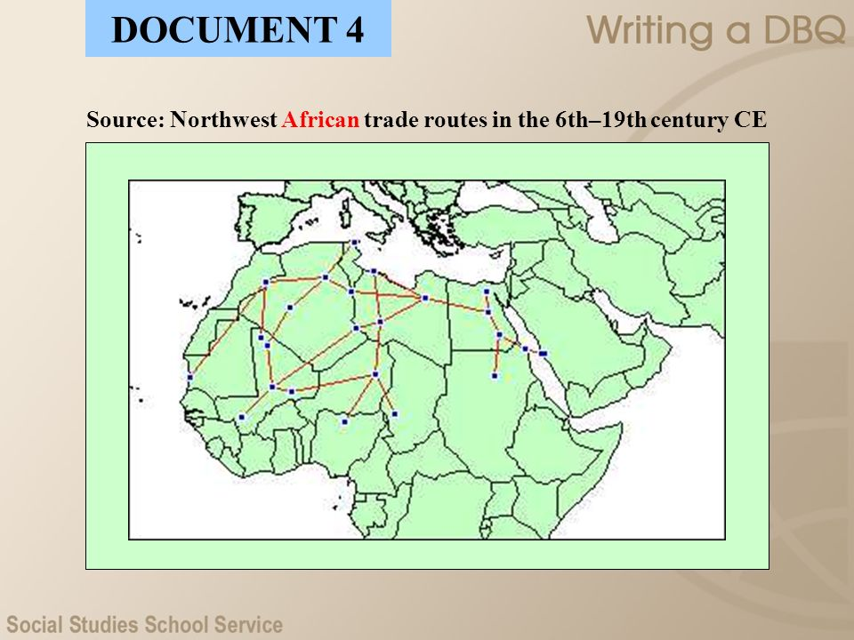 Source: Northwest African trade routes in the 6th–19th century CE