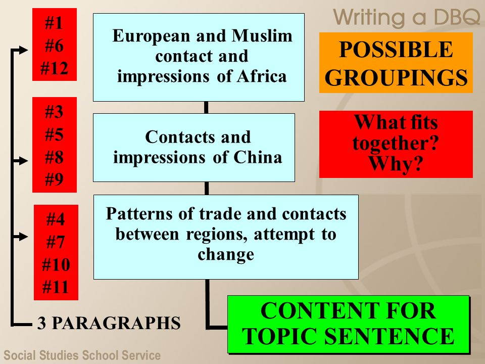 CONTENT FOR TOPIC SENTENCE