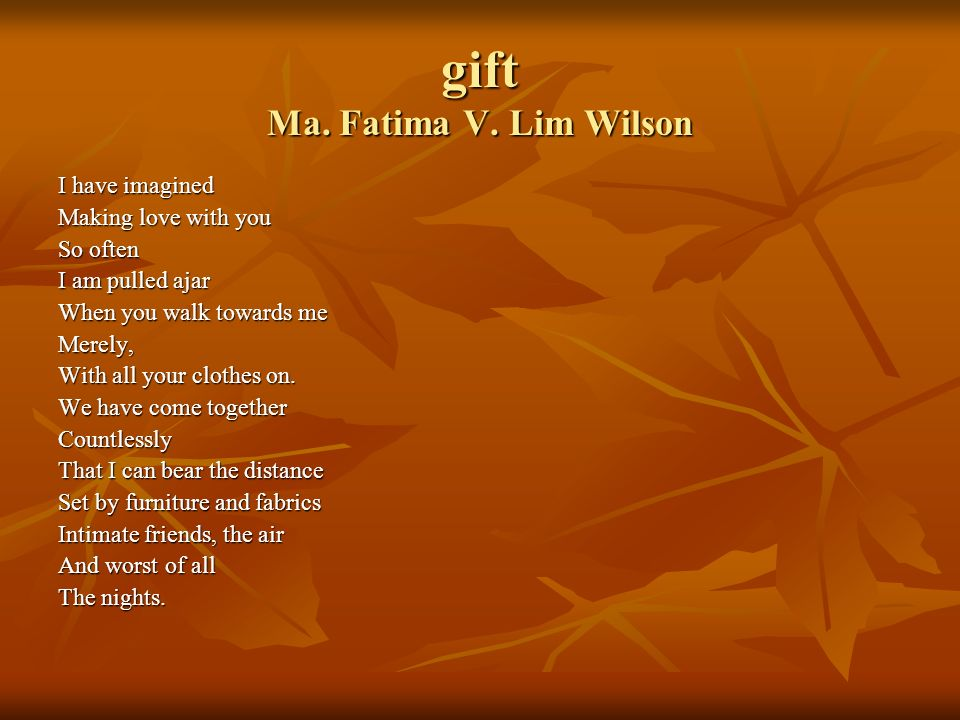 gift Ma. Fatima V. Lim Wilson