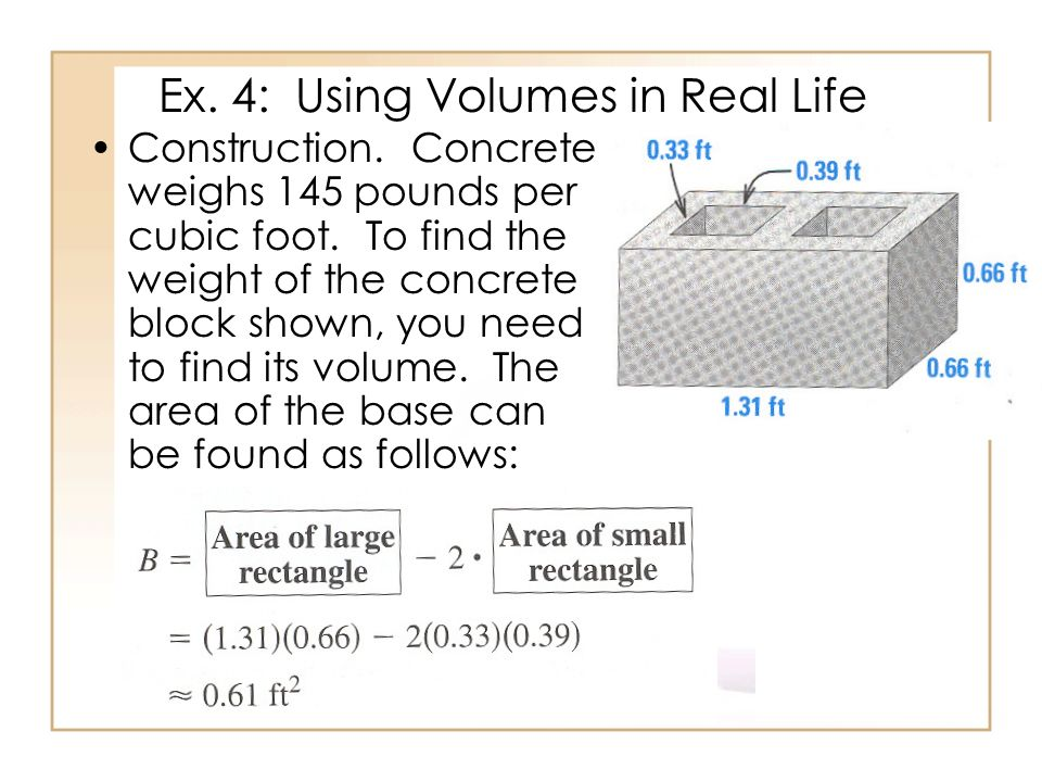 Ex. 4: Using Volumes in Real Life