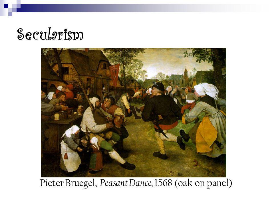 Pieter Bruegel, Peasant Dance, 1568 (oak on panel)