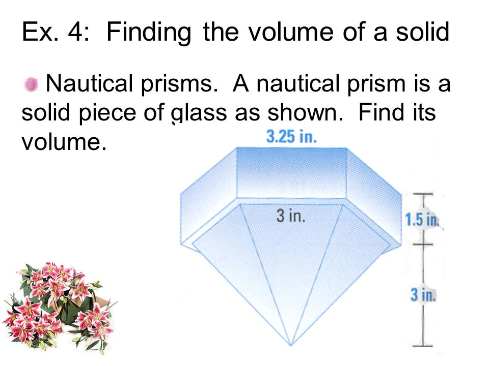 Ex. 4: Finding the volume of a solid