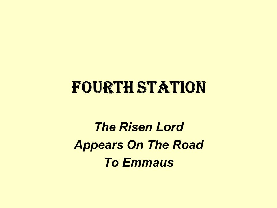 The Risen Lord Appears On The Road To Emmaus