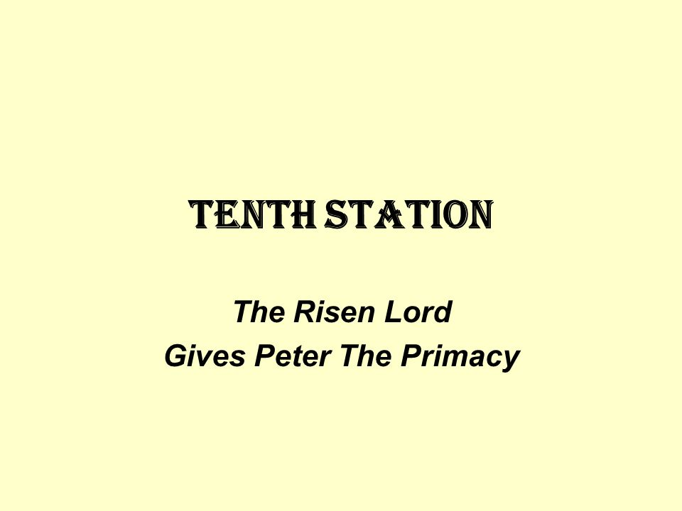 The Risen Lord Gives Peter The Primacy