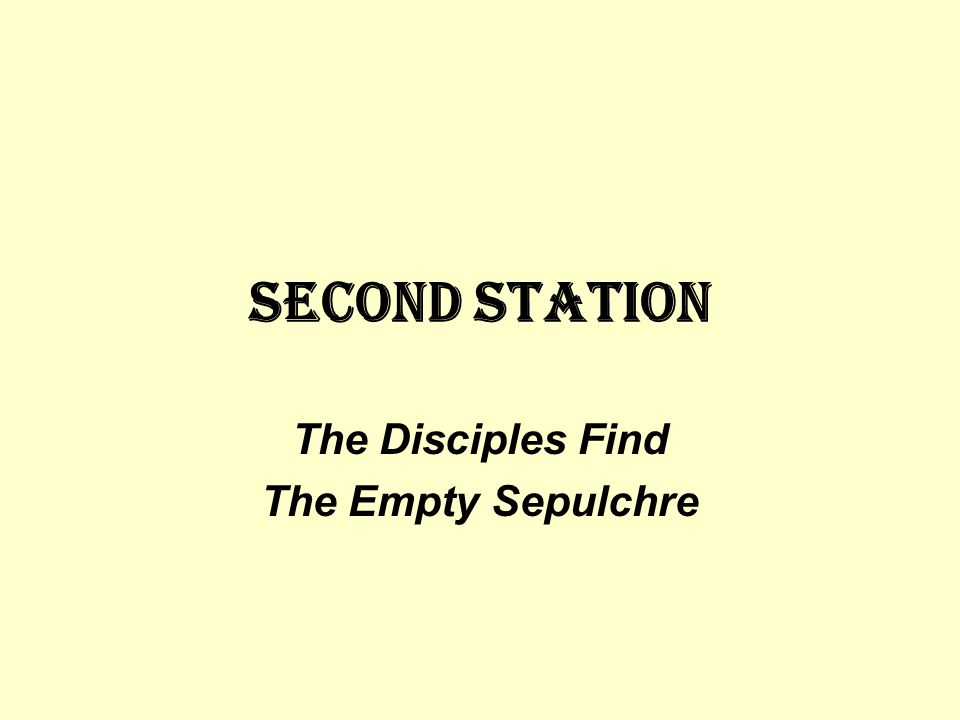 The Disciples Find The Empty Sepulchre
