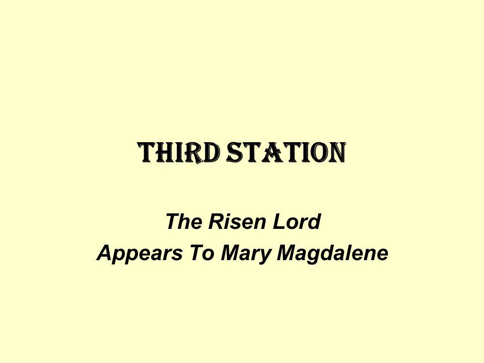 The Risen Lord Appears To Mary Magdalene