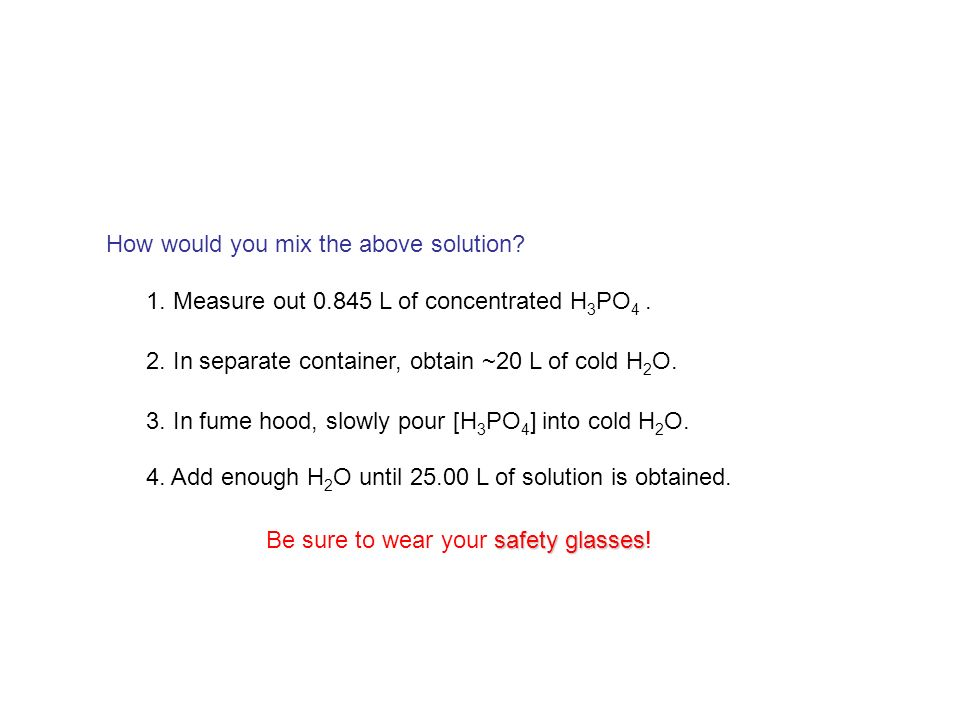 How would you mix the above solution