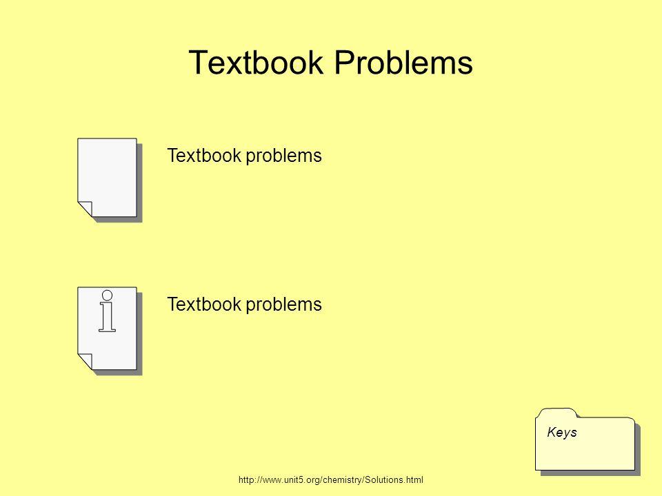 Textbook Problems Textbook problems Textbook problems Keys