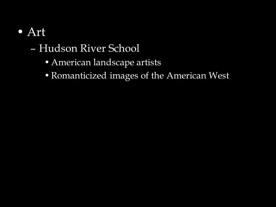 Art Hudson River School American landscape artists