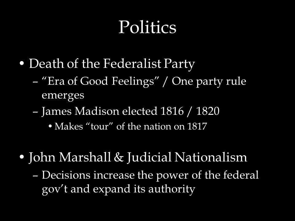 Politics Death of the Federalist Party