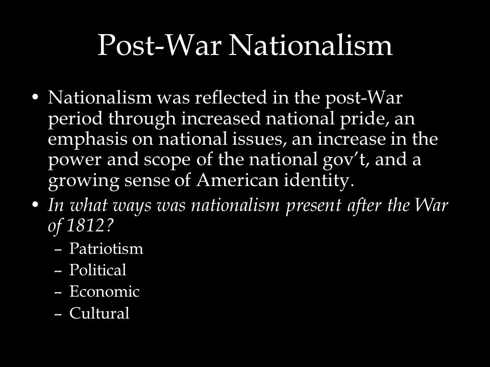 Post-War Nationalism