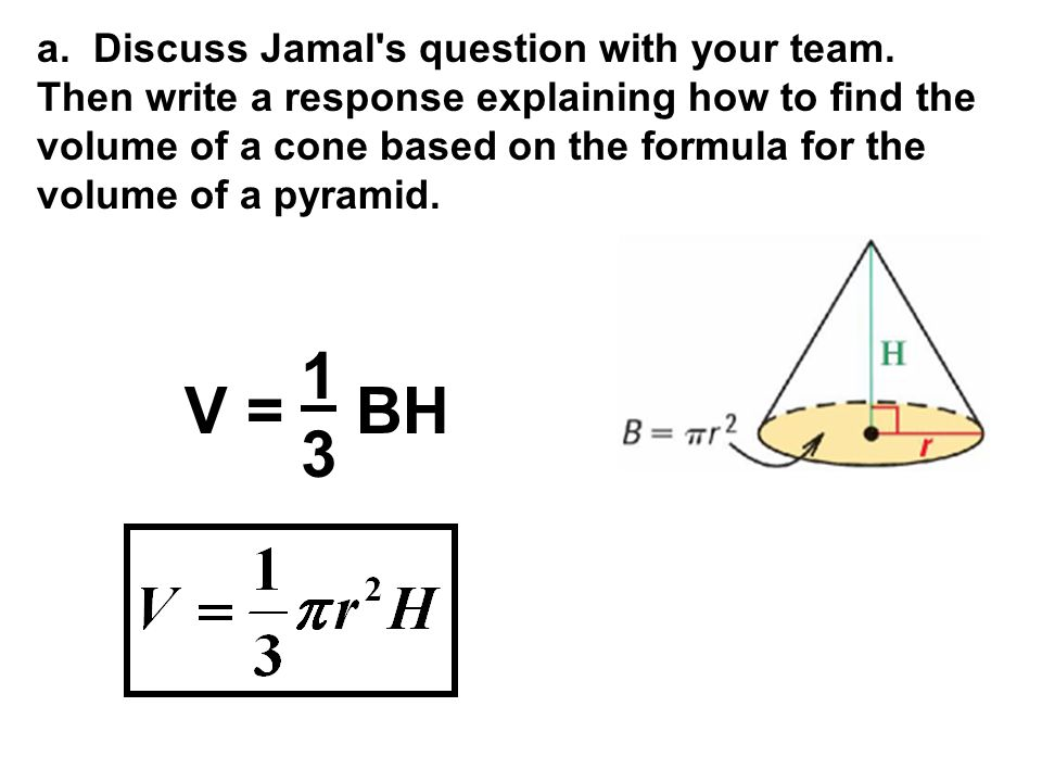 a. Discuss Jamal s question with your team