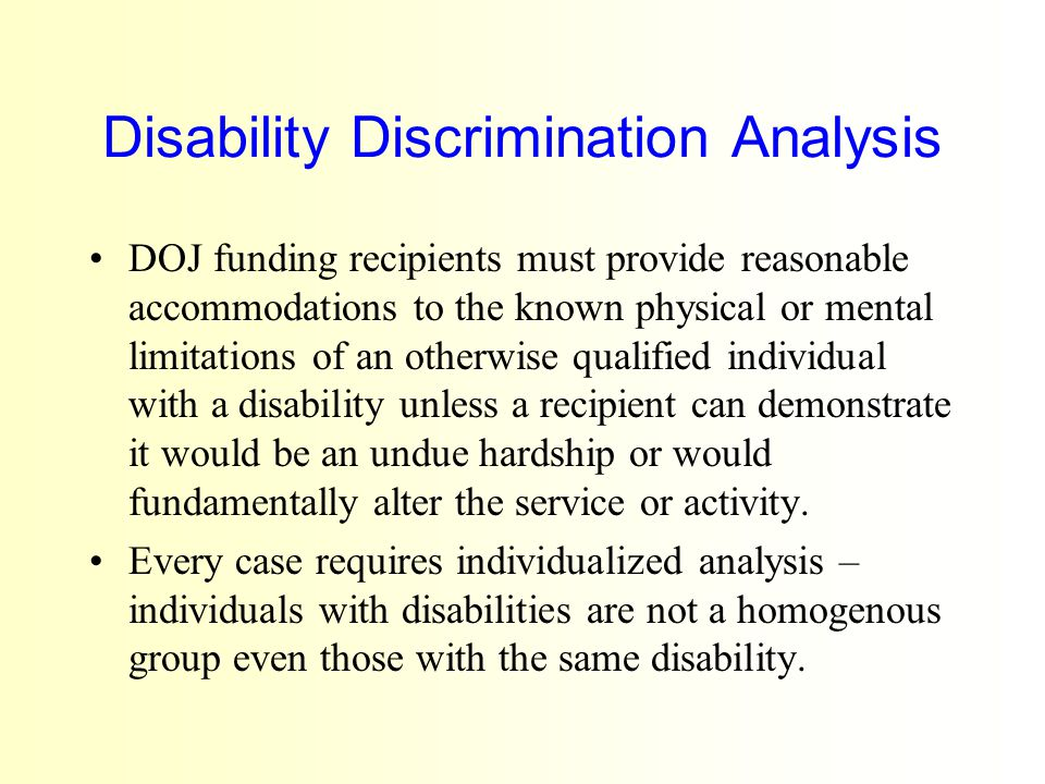 Disability Discrimination Analysis