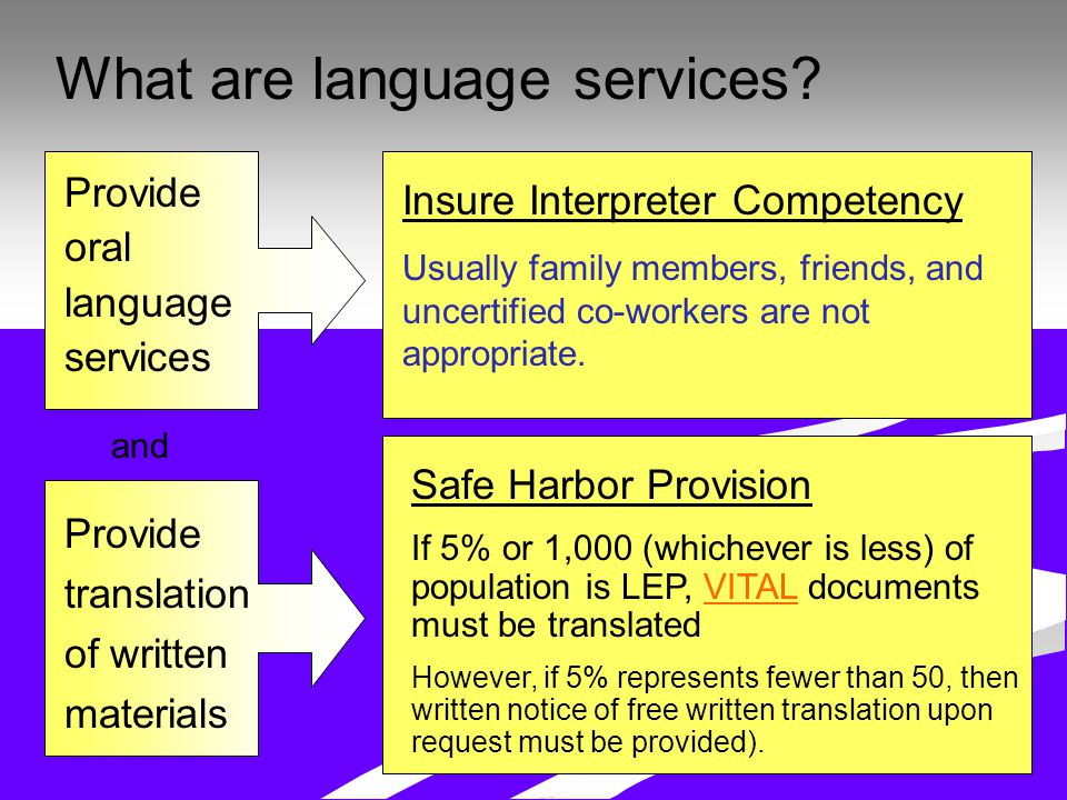What are language services