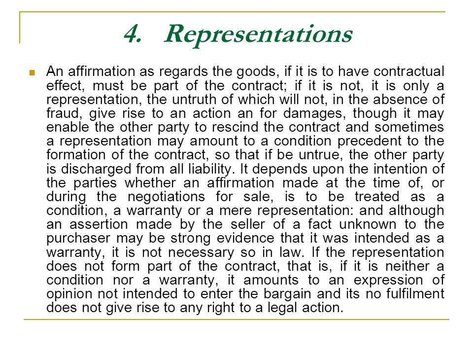 4. Representations