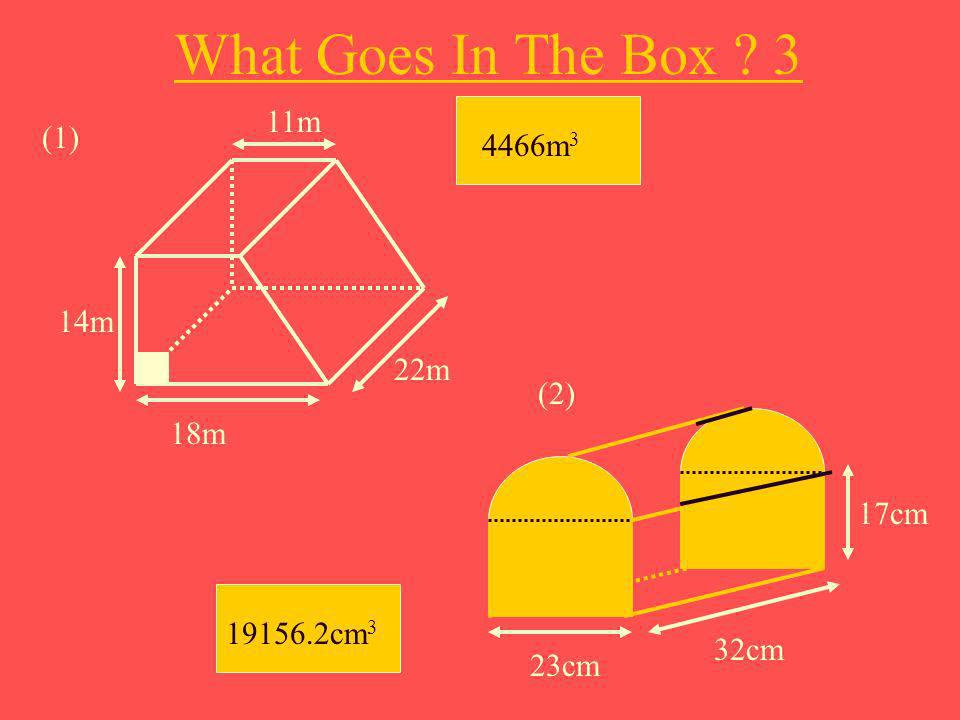 What Goes In The Box 3 11m (1) 4466m3 14m 22m (2) 18m 17cm