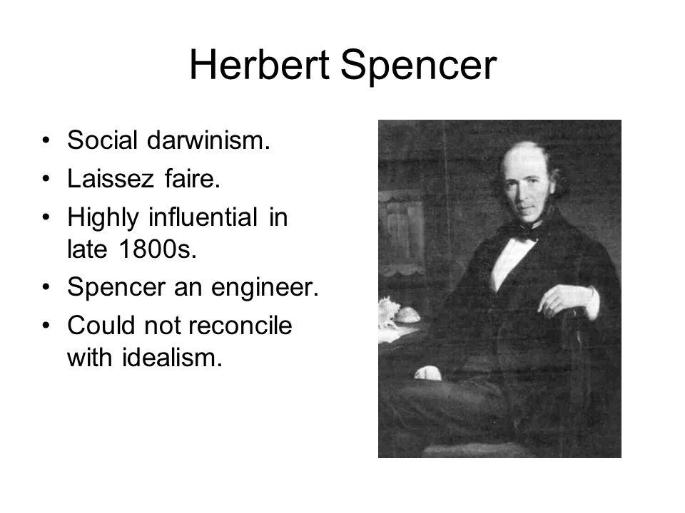 Herbert Spencer Social darwinism. Laissez faire.