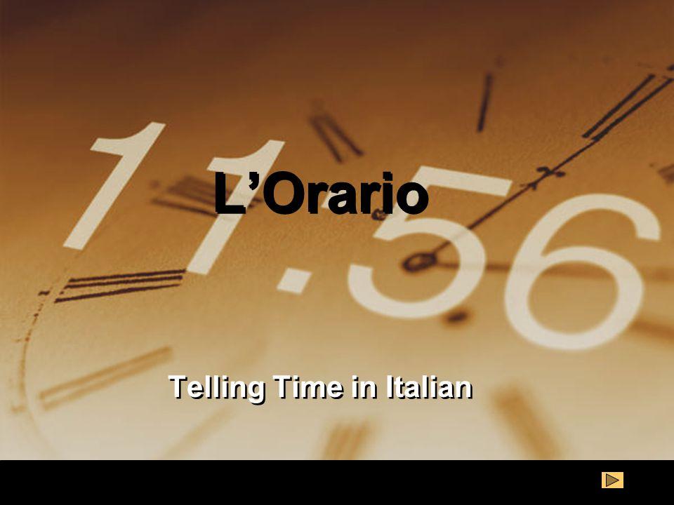 Telling Time in Italian