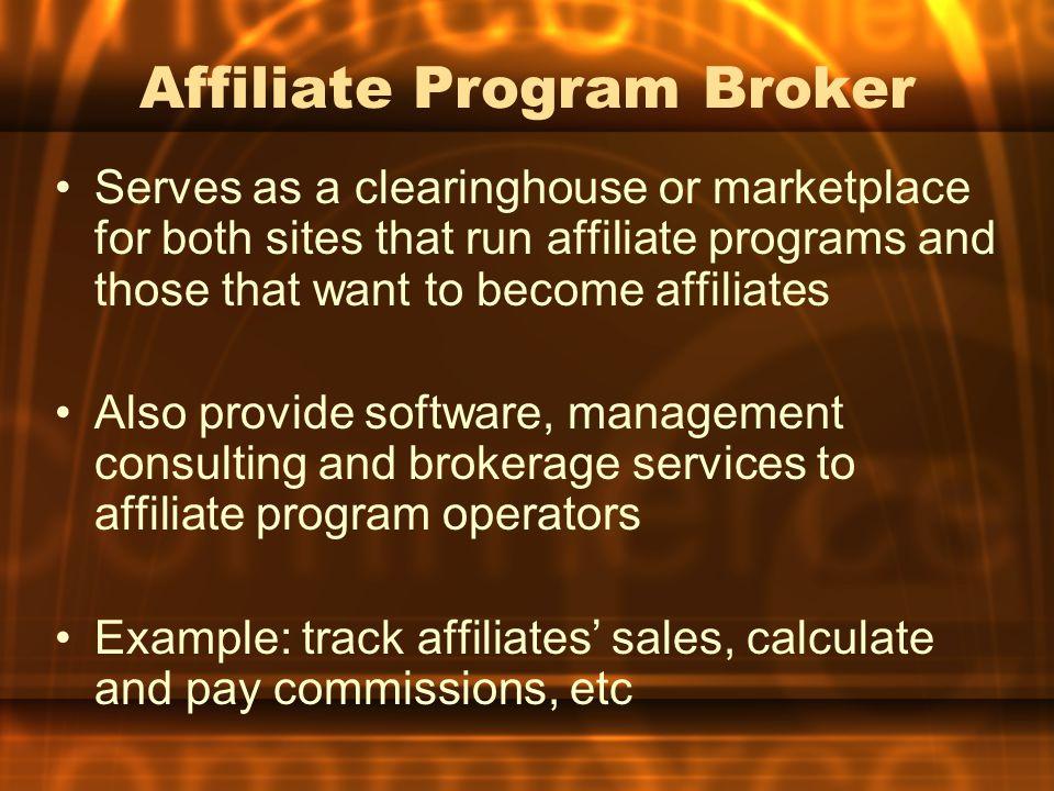 Affiliate Program Broker