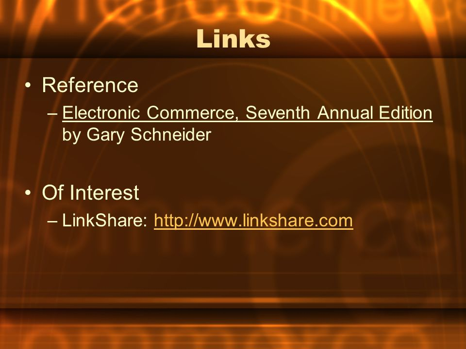 Links Reference Of Interest