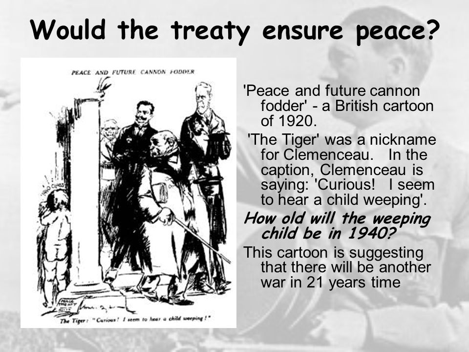 Would the treaty ensure peace