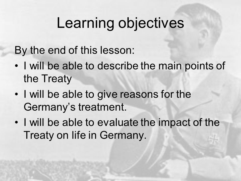 Learning objectives By the end of this lesson: