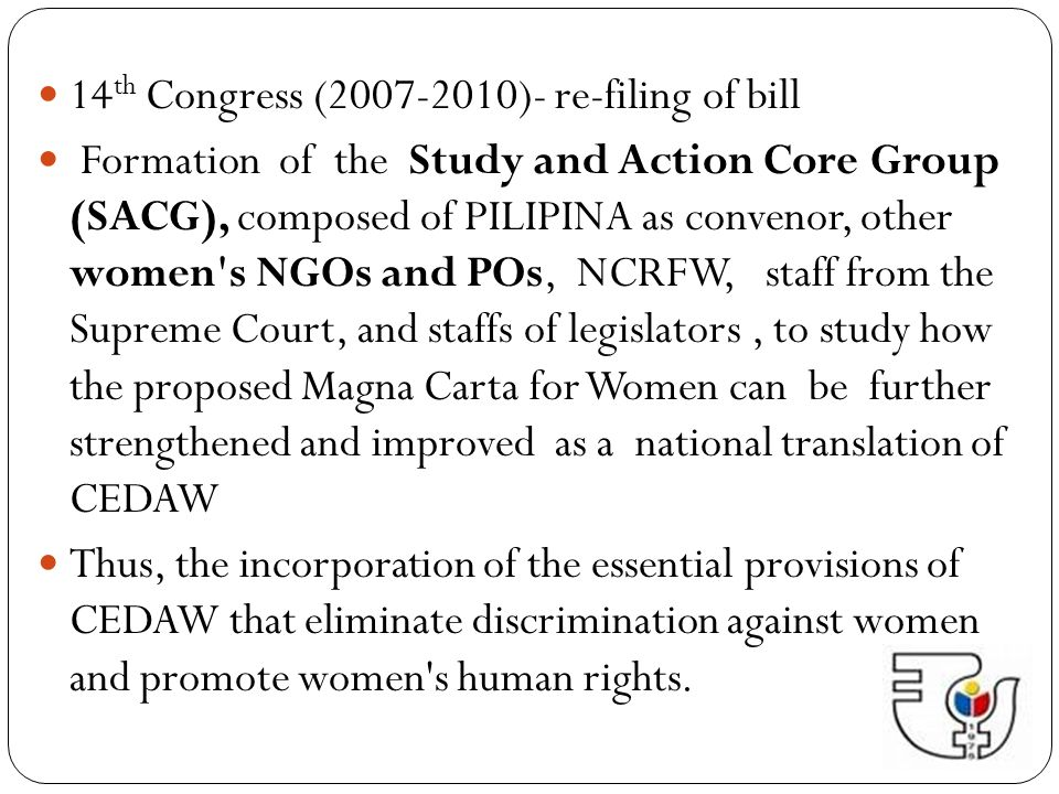 14th Congress (2007-2010)- re-filing of bill