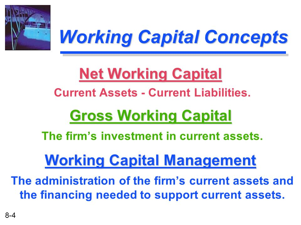 Working Capital Concepts