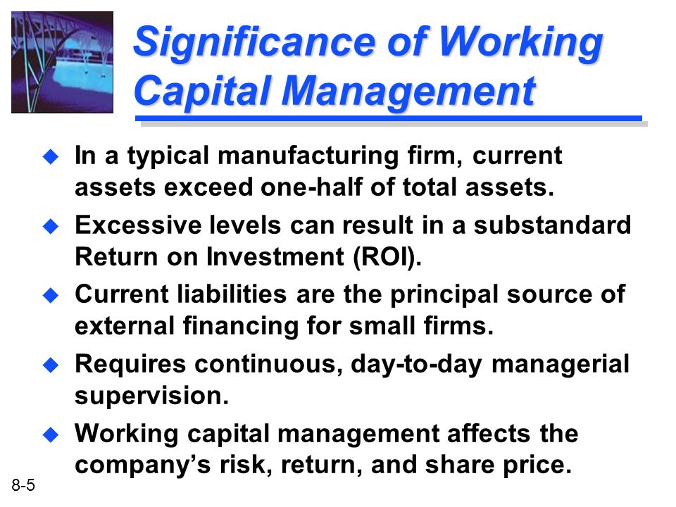 Significance of Working Capital Management