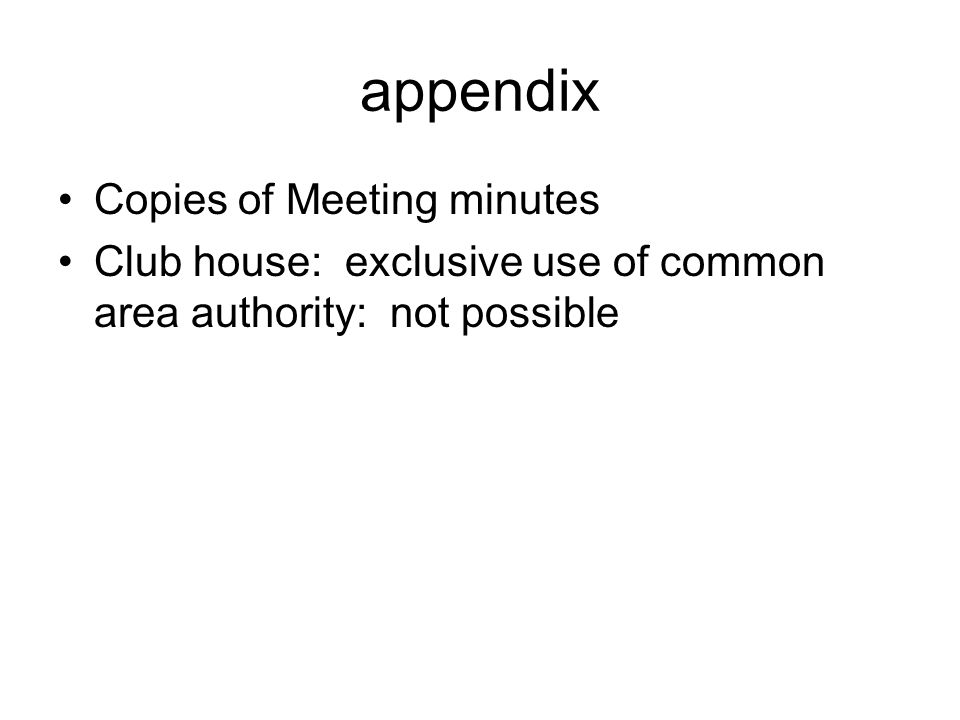 appendix Copies of Meeting minutes