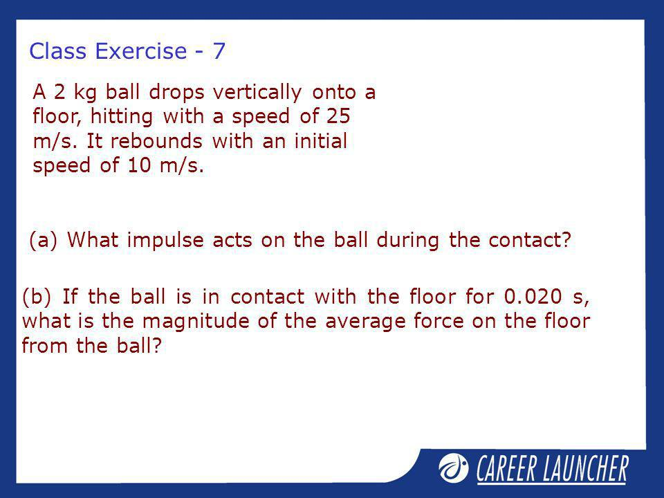(a) What impulse acts on the ball during the contact